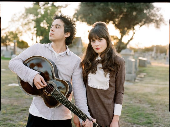 M. Ward, left, and Zooey Deschanel, collectively known