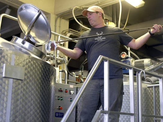 Head brewer Joe Karls produces Hinterland Brewery's