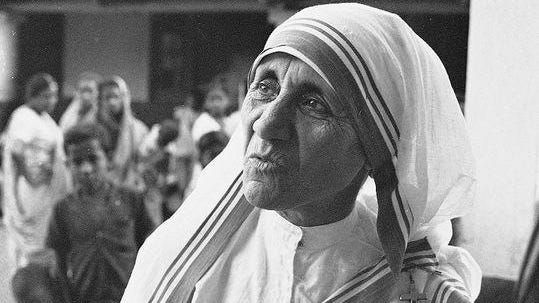 Mother Teresa, who worked to feed the hungry and comfort the dying in India, won a Nobel Peace Prize and was named a saint in September by Pope Francis.