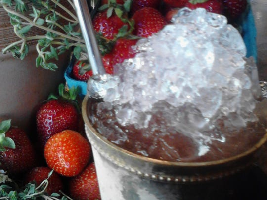 The Strawberry Fields Julep at Catherine Lombardi Restaurant.