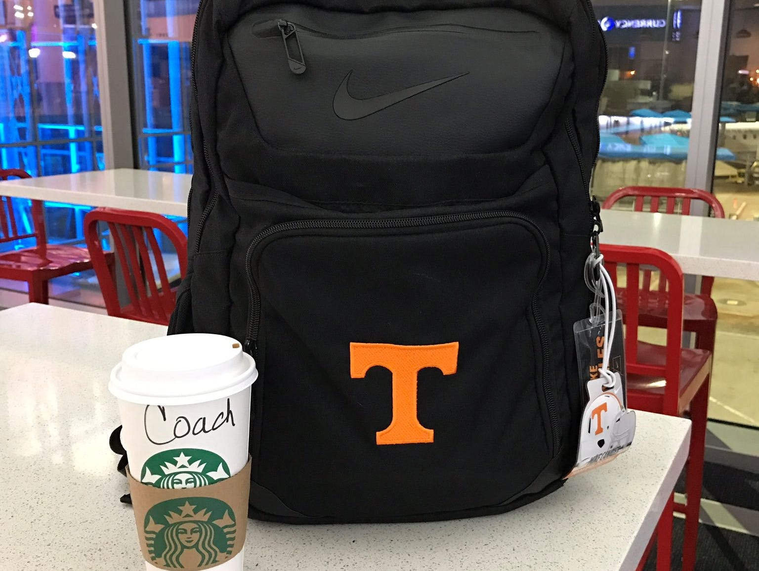 The backpack Tennessee quarterbacks coach Mike Canales carries with him on recruiting trips has become a Twitter sensation as #TheBag.