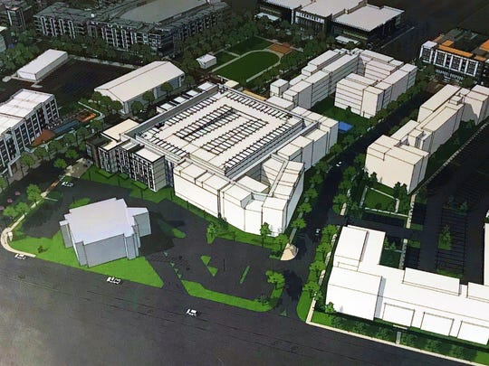 Renderings from the first building slated for construction in the Park Lane development.