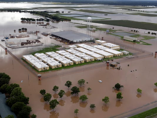 Prison floodwaters