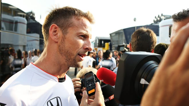 Former Formula One champion Jenson Button is in his seventh season with McLaren.