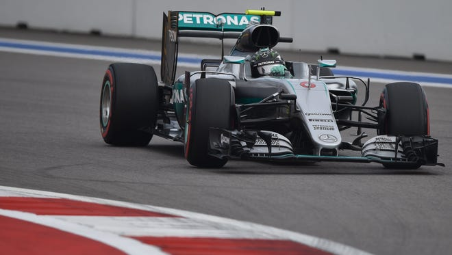 Rosberg steers during Satutday's qualifying session.