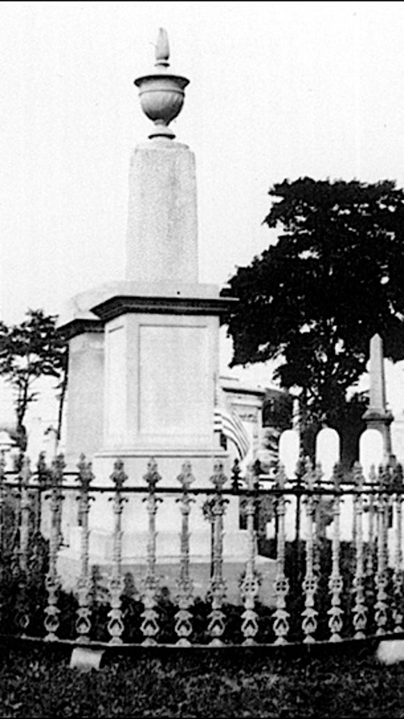 Philip Livingston monument in Prospect Hill Cemetery, Manchester Township, York County, PA (Photo dated August 30, 1927 from Collection of the York County History Center)
