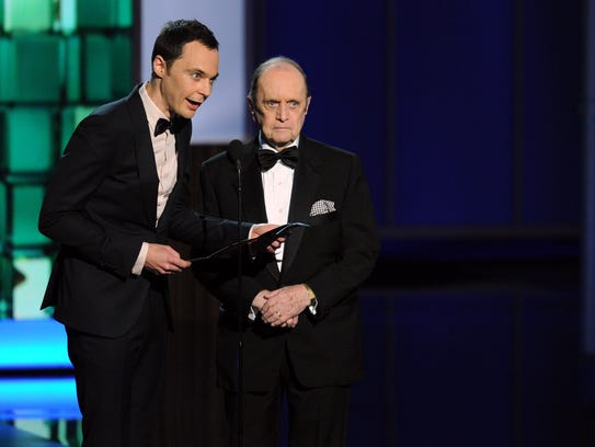 'Big Bang Theory' star Jim Parsons, left, and comedy