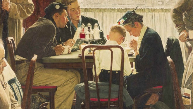 Norman Rockwell masterpiece 'Saying Grace' sold for a record $46 million at Sotheby's auction in New York Dec. 4.