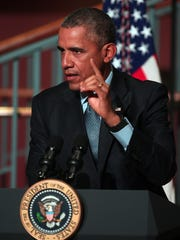 President Barack Obama delivers a statement at Rutgers University – Newark, Center for Law & Justice as part of his commitment to criminal justice reform, traveling to the Newark, New Jersey area to highlight efforts enabling former prisoners to return to society with education, training and good-paying jobs. He will be joined by Senator Booker and Mayor Baraka. November 2, 2015, Newark, NJ.