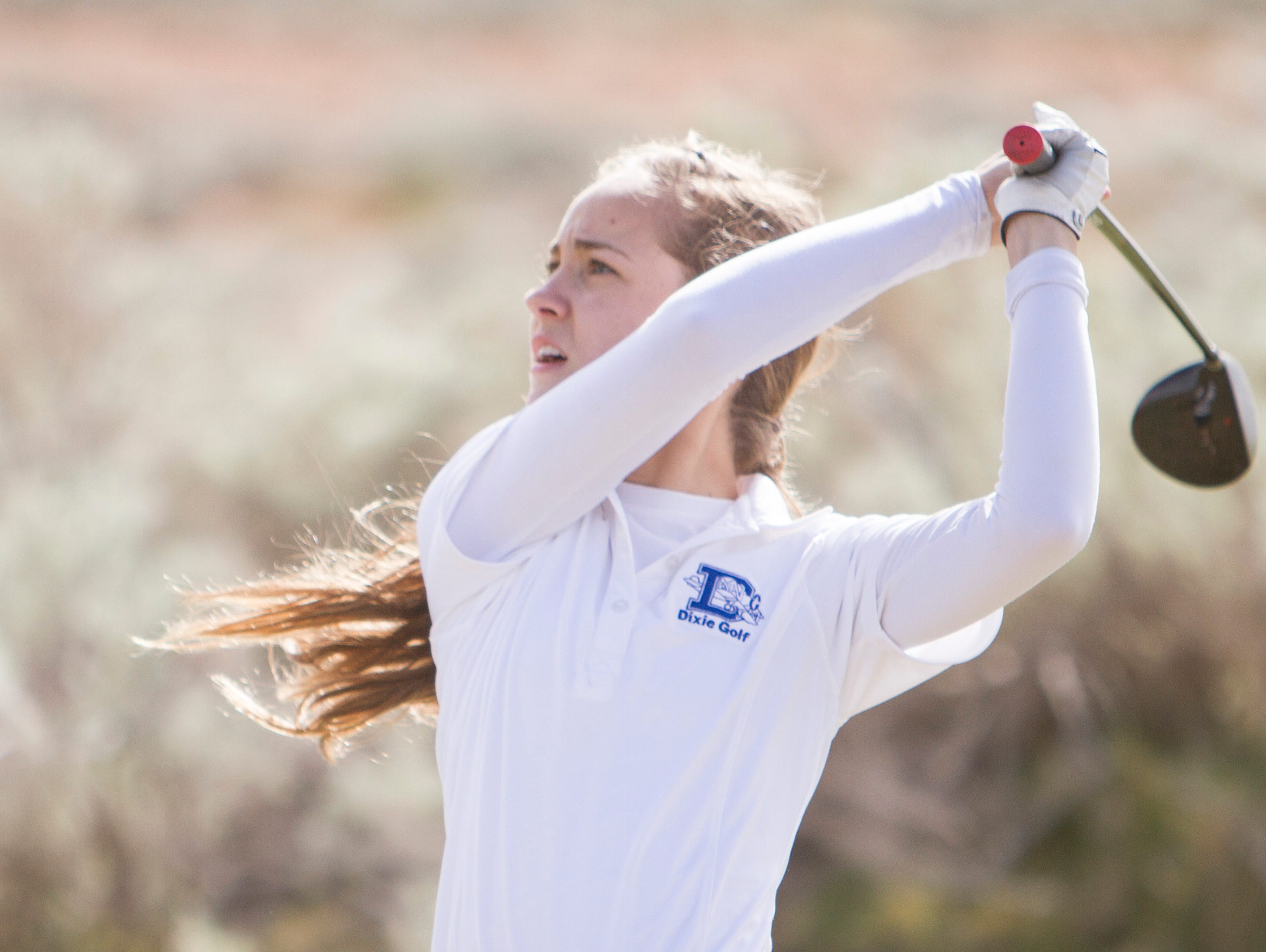 Region 9 girls golf competes at Sand Hollow Thursday, March 31, 2016.