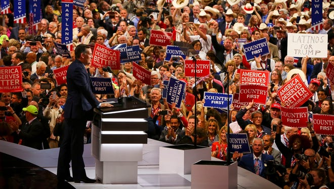 Ted Cruz speaks at the Republican National Convention in Cleveland on July 20, 2016.