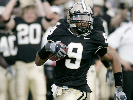 Purdue's Dorien Bryant put his speed to good use as a wide receiver and kickoff return specialist.