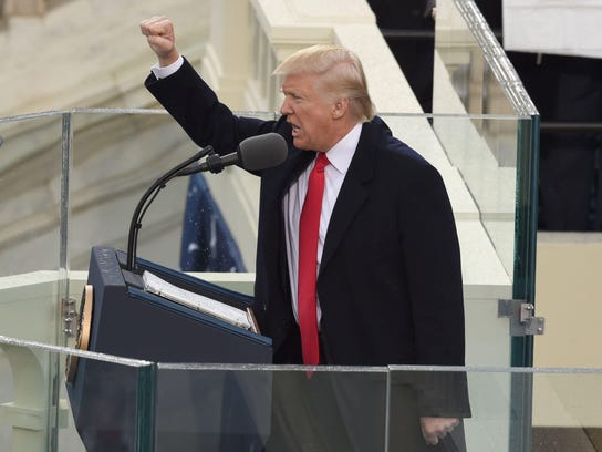 President Donald Trump after his swearing in as president.