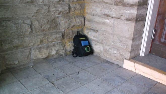 An abandoned backpack led to the closure of the Polk County courthouse Thursday morning.