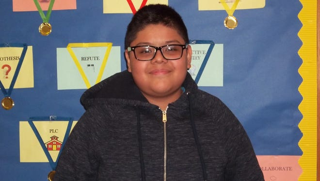 Josue Diaz, Character Counts! Student of the Week