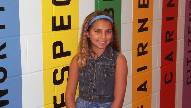 Brylie Cuevas, Character Counts! Student of the Week