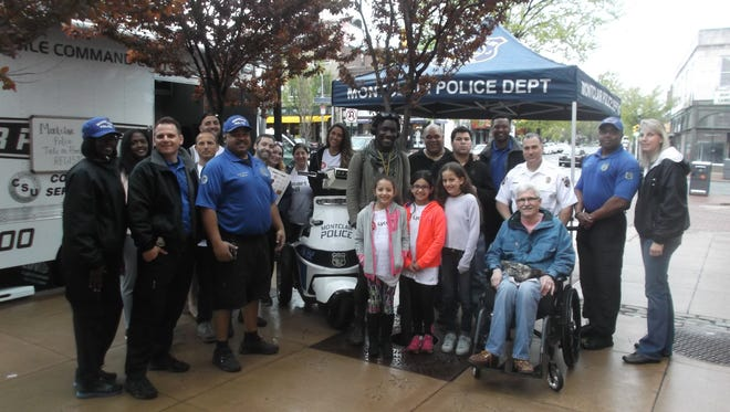 Montclair police hold an autism awareness and Earth Day event on South Park Street, near Bloomfield Avenue, on Saturday, April 22.
