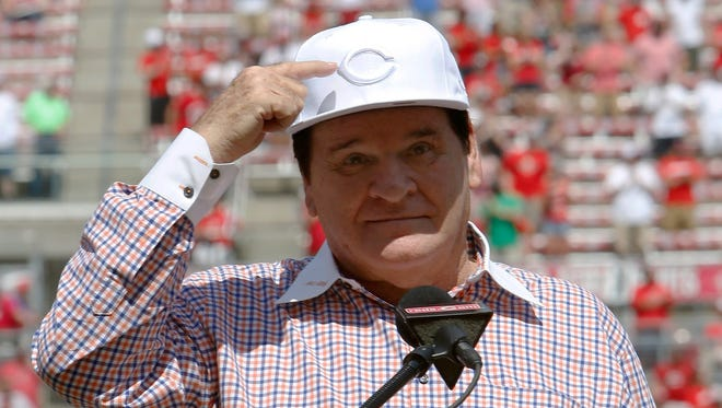 Despite being banned by Major League Baseball, Pete Rose was inducted into the Cincinnati Reds Hall of Fame in 2016.