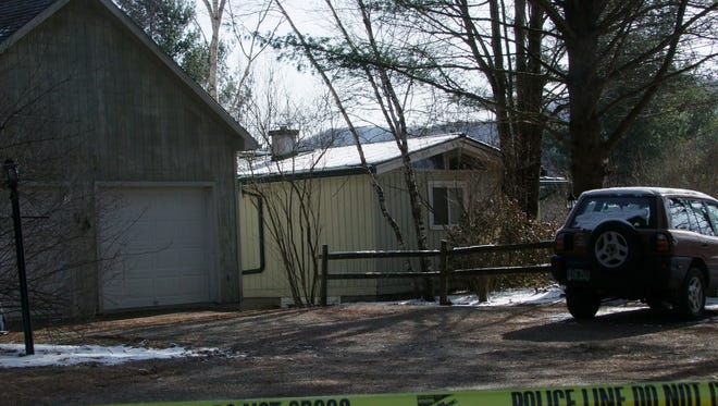 Stowe police said Thursday that two adults found dead at this house on Cady Hill Road were victims of a murder-suicide.
