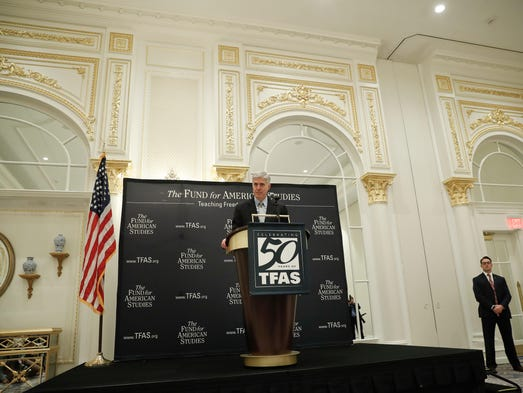 Gorsuch speaks at the 50th anniversary of the Fund
