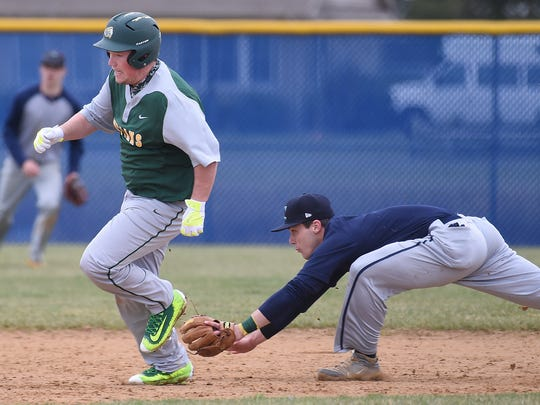 Cape Henlopen HS (blue) and Indian River HS (green) scrimmaged each other in Boys Varsity Baseball on Saturday March 12th in Georgetown.