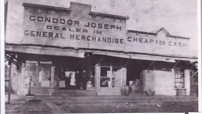 Before the big box  Gondoor Joseph Store at 1301 Jefferson St. The store was built in 1904. Pictured in this photo from 1910 are Celeste Domingue, Joe Joseph, Mrs. Gondoor and an unidentified clerk.