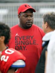 Central coach Lorenzo Williams at the Missouri State