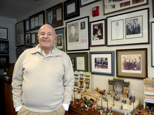 Gerry Frank in his office in Salem on Monday, Oct. 20, 2014.
