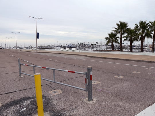 A previously closed section of Shoreline Boulevard near the Art Center of Corpus Christi has been opened for a traffic study on Thursday, December 14, 2016.