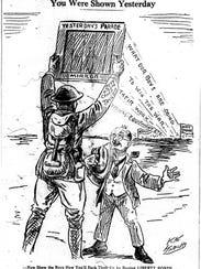 On April 6, 1918, a rainy Saturday, a massive parade