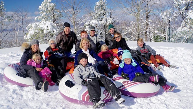 The Browns from California enjoy winter excursions to Mohonk as a family.