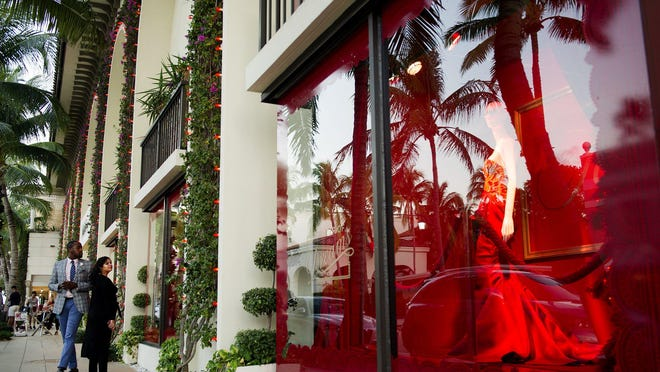 Saks Fifth Avenue's Palm Beach store closed for the next two weeks starting Wednesday. Neiman Marcus, located across the street, also is closed.
