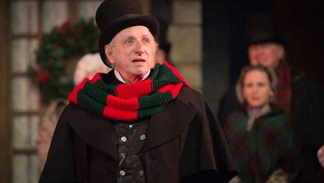 "Thomas Mahard is Ebeneezer Scrooge in Meadow Brook Theatre's staging of the Charles Dickens classic ""A Christmas Carol."""