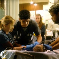 "(L-R) Bonnie Sommerville, Raza Jaffrey are out in the new ""Code Black"", but Luis Guzman stays, along with Rob Lowe and Marcia Gay Harden. And new faces are brought in to revamp the emergency room drama."