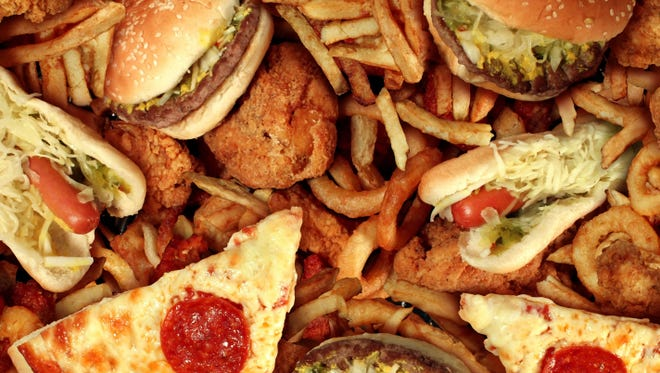 A pile of junk food.