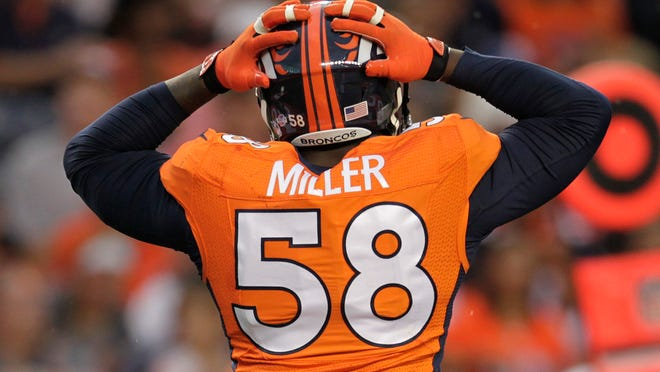 Denver linebacker Von MIller suffered an ankle injury during Tuesday's practice and may miss the 2020 season.