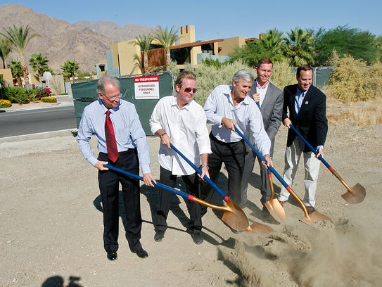 Developers and city leaders break ground at the site