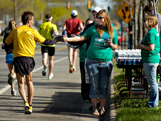Volunteers are key to the Earth Day Half Marathon.