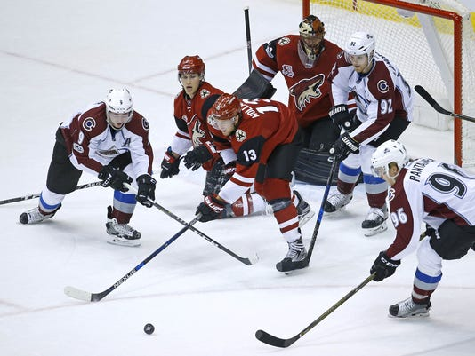 Avalanche at Coyotes