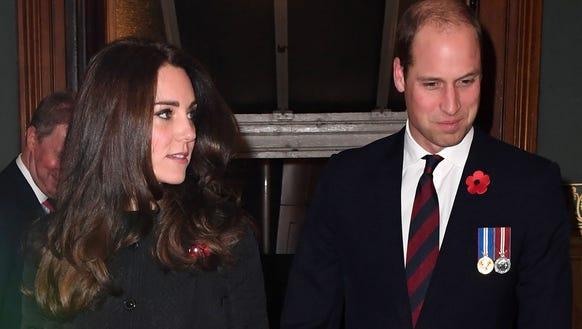 Duchess Kate and Prince William at Royal Albert Hall