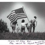 "1985: ""Carrying Old Glory High""  Flag carried by Raymond Buckner Jr."