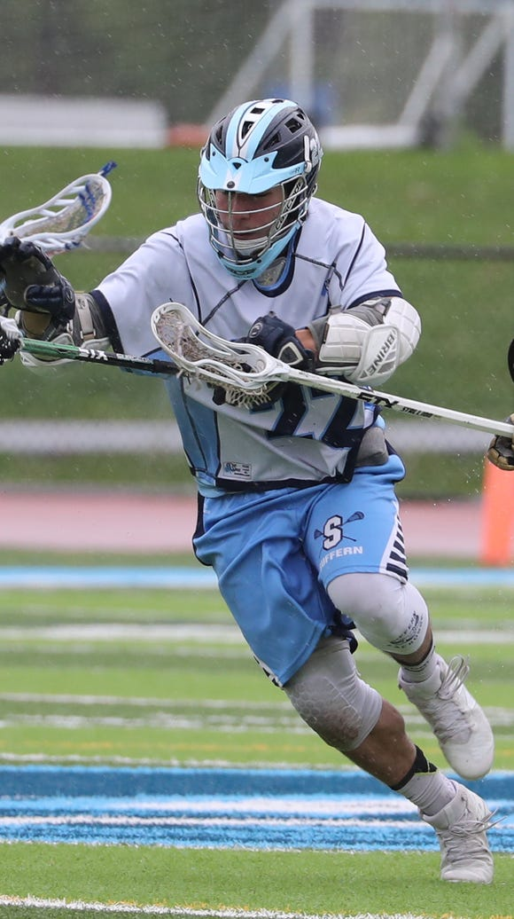 Suffern's Radu Stancescu during a Class A first round