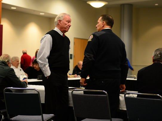 Ocean City Mayor Rick Meehan speaks to Ocean City Police