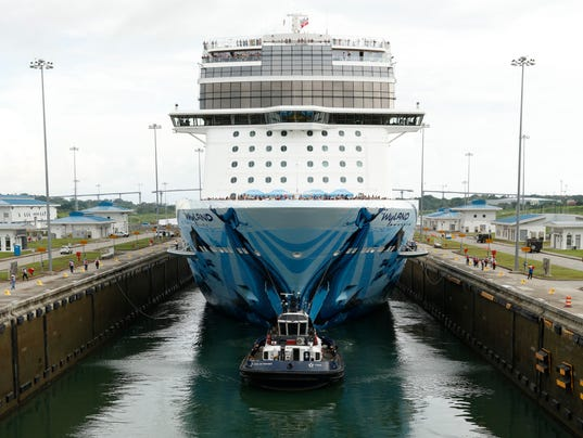 Αποτέλεσμα εικόνας για Norwegian Bliss is Largest Cruise Ship to Cross the Panama Canal