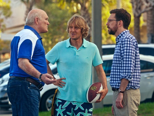 Terry Bradshaw, from left, Owen Wilson and Ed Helms