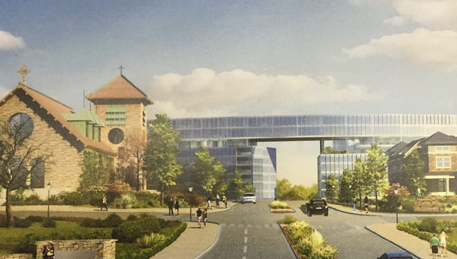 Rendering of preliminary concept for development of former Good Counsel property in White Plains.