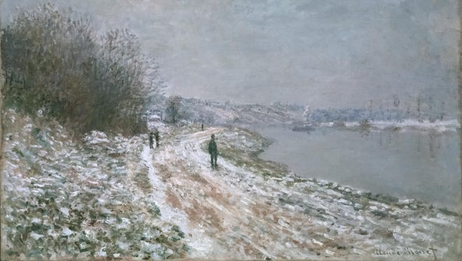 """Claude Monet's """"Chemin de Halage a Argenteuil (Tow-path at Argenteuil)"""" (1875) is among the paintings on display at the Albright-Knox Art Gallery in Buffalo as part of its exhibit """"Monet And The Impressionist Revolution, 1860–1910."""""""