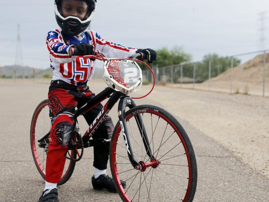 Ellie Carey, 6, of Goodyear is a BMX rider who won