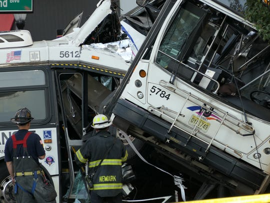The collision between two New Jersey Transit buses