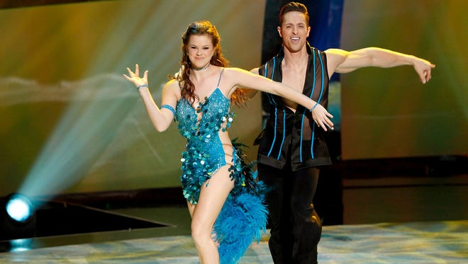 "Valerie Rockey, left, performs with Ryan Di Lello during Wednesday's episode of ""So You Think You Can Dance."""